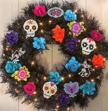 dia de los muertos rose wreath diycandy com