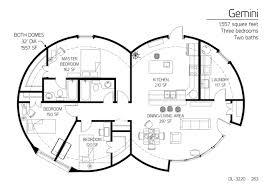 Monolithic Dome Homes Floor Plans Gemini U201d Series Monolithic Dome Institute