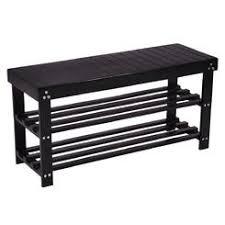 shoe rack organizer solid wood storage bench sit