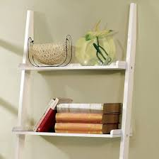 furniture creative storage and decorating with leaning shelves