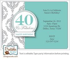 40th birthday invitation wording reduxsquad