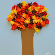 crepe paper fall tree fun family crafts