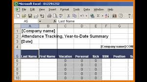 Vacation Accrual Spreadsheet Part Time Full Time Employee Attendance Tracker Template Excel