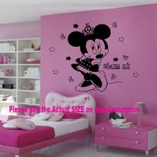disney minnie mouse crown personalised name vinyl wall stickers