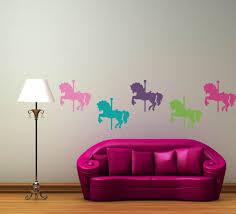 honeycomb wall decals hexagon wall decals vinyl wall decals carousel horses vinyl wall decal set set of 5