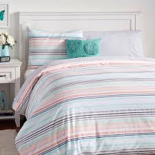 Pottery Barn Teen Comforter Vintage Stripe Duvet Cover Standard Sham Pbteen