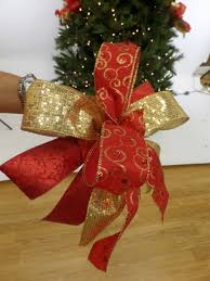 tie a tree bow lights decoration