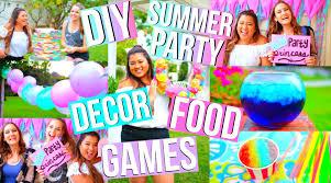 diy summer party food decor games u0026 more youtube
