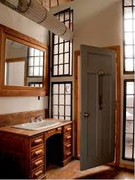 Houzz Rustic Bathrooms - vanity side splash houzz