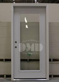 Exterior Doors Steel 1 Lite Clear Glass Steel Exterior Door 6 8 Door And Millwork