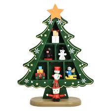 desk table top mini wooden christmas tree decorations xmas party