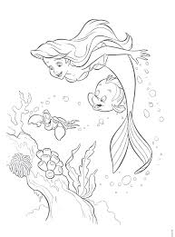 coloring pages free little mermaid printables free printable