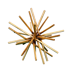 worlds away urchin gold leaf iron asterisk