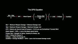 Formulas For Spreadsheets Diablo 3 Dps Equation Explained Spreadsheet Youtube