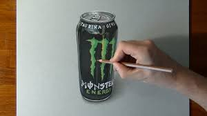 how to draw a monster energy drink can youtube