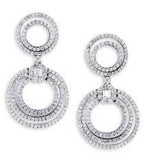 white gold dangle earrings 18k white gold baguette diamond dangle earrings dangling