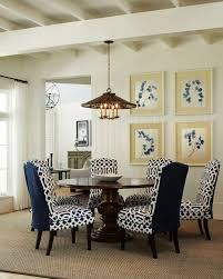 White Slipcover Dining Chair Parsons Chair Slipcovers Dining Room Traditional With Blue And