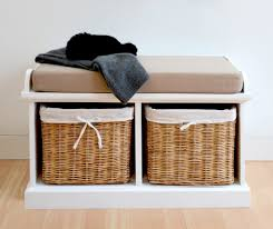 bench horrifying storage bench with baskets plans glamorous
