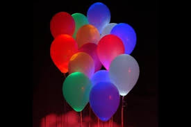 glow in the balloons sparkle ribbon led balloons al nafay