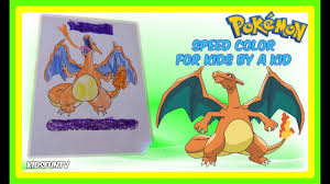 video for kids youtube kidsfuntv pokemon coloring pages for kids speed color of charizard