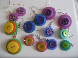 diy button earrings 151 best button jewelry images on buttons ideas make