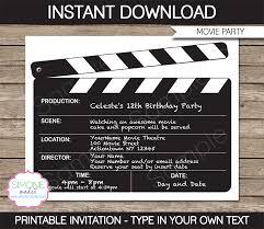 free movie invitation template movie ticket invitation template