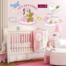 Nursery Stickers Minnie U0026 Mickey Mouse Disney Wall Stickers Pink For Baby Rooms