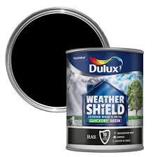 dulux weathershield exterior black satin wood u0026 metal paint 750ml