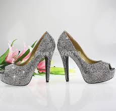 Wedding Shoes Peep Toe Shoe Usa Picture More Detailed Picture About Grey Wedding Shoes