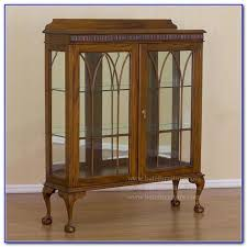 antique mahogany display cabinets with glass doors cabinet