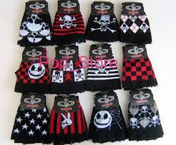new sale skull nightmare before fingerless gloves