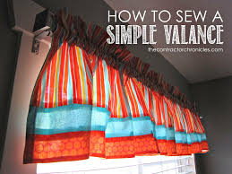 how to sew a simple valance the contractor chronicles