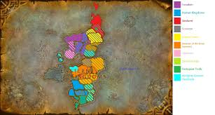 World Of Warcraft Map A Political Map Of The Eastern Kingdoms Sorry For Crap Resolution