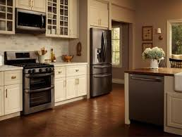 what color cabinets look with black stainless steel appliances 10 decorating ideas for above kitchen cabinets black