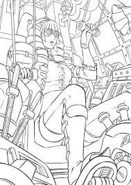 niebla controlling steampunk robot coloring free
