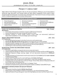 executive resume design executive project consultant resume exle business manager