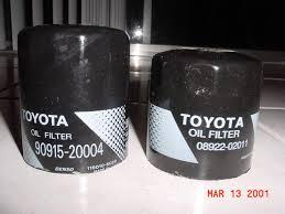 lexus v8 oil filter toyota oil filters u2013 toyota 90915 20004 vs toyota 08922 02011 vs