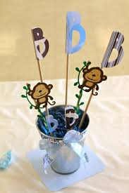 baby boy centerpieces different baby shower with monkey baby shower decorations home