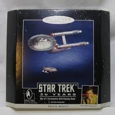 trek keepsake ornaments enterprise and shuttle by hallmark