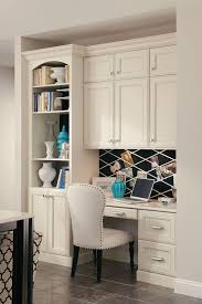 Kitchen Office Furniture Desk Built In Cabinet Kraftmaid Built In Desk With Bookcase And