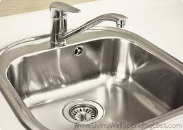 How To Clean The Kitchen Sink Clean Kitchen Sink Living Well Spending Less