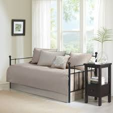 Daybed Cover Sets Park Mansfield Khaki Printed 6 Day Bed Cover Set
