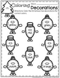 december preschool worksheets planning playtime