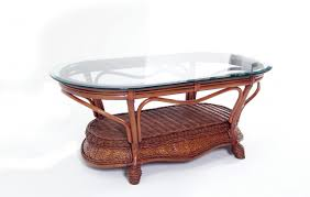 Wicker Side Table Wicker Coffee Table With Glass Top U2014 Furniture Ideas How To