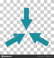 Soft Blue Color Collide 3 Arrows Vector Icon U2014 Stock Vector Ahasoft 145193727
