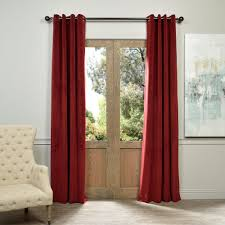 exclusive fabrics furnishings blackout signature burdy red grommet blackout velvet curtain 50 in