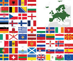 Flags Of European Countries Set Of Flags And Maps Of All European Countries And Dependent