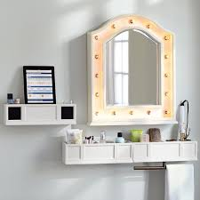 Bathroom Shelf With Mirror Mirror Shelves Bathroom Mirrored Wall Shelves