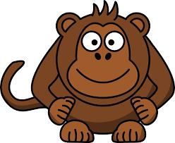 clipart cartoon monkey