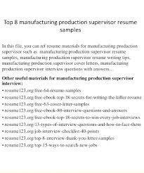 resume sle doc file download manufacturing supervisor resume manufacturing supervisor resume